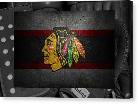 Blackhawk Canvas Print - Chicago Blackhawks by Joe Hamilton