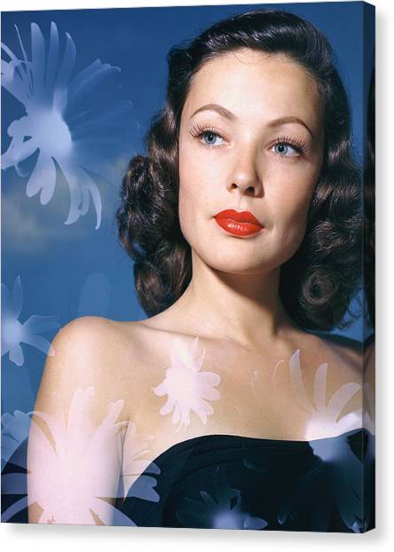 Gene Tierney Canvas Print by Silver Screen