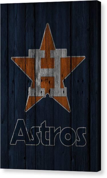 Foul Canvas Print - Houston Astros by Joe Hamilton