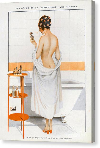 Vintage Canvas Print - La Vie Parisienne  1916 1910s France Cc by The Advertising Archives