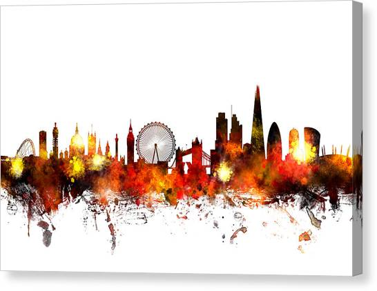 United Kingdom Canvas Print - London England Skyline by Michael Tompsett
