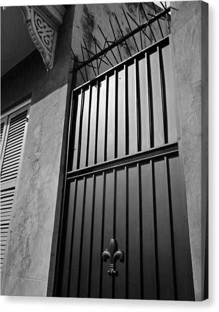 New Orleans Door Canvas Print