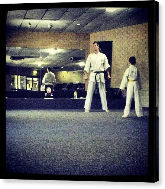 Karate Canvas Print - #saturdays #portraits #family #son by Ragenangel -s