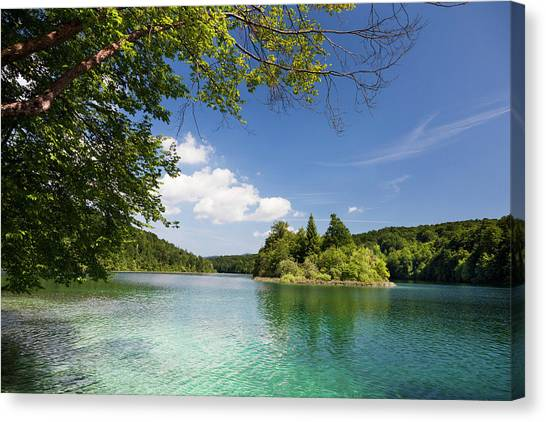 Karsts Canvas Print - The Plitvice Lakes In The National Park by Martin Zwick