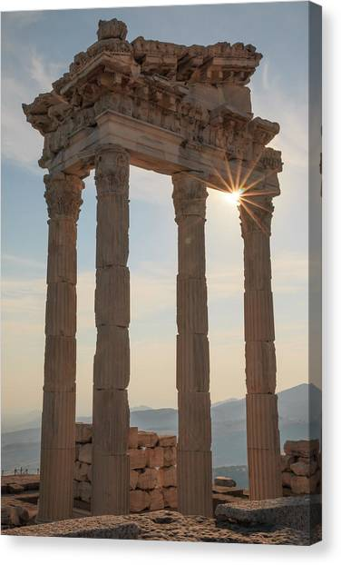The Acropolis Canvas Print - Turkey, Izmir, Bergama, Pergamon by Emily Wilson