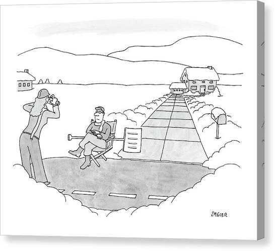 Shovels Canvas Print - New Yorker December 17th, 2007 by Jack Ziegler