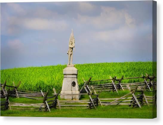 Volunteer Infantry Canvas Print - 132 Pennsylvania Volunteer Infantry - Antietam Maryland by Bill Cannon
