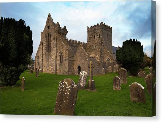 Early Christian Art Canvas Print - 13th Century Collegiate Church Of St by Panoramic Images