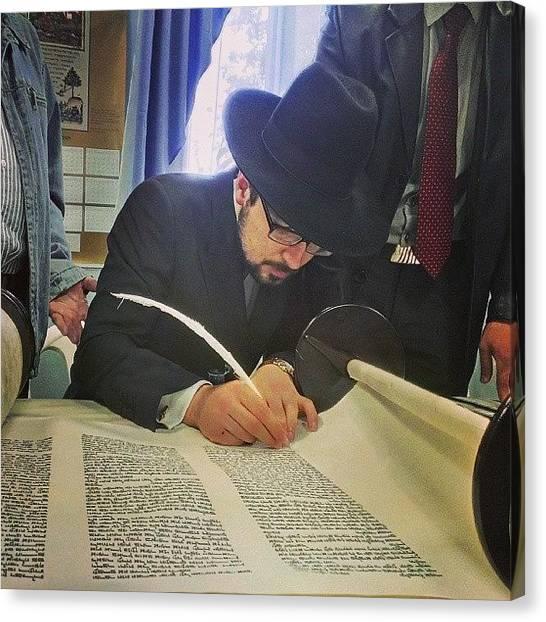 Judaism Canvas Print - У Віцебску by Serge Serebro