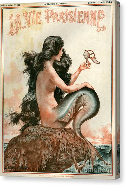 Mythological Creatures Canvas Print - 1920s France La Vie Parisienne Magazine by The Advertising Archives