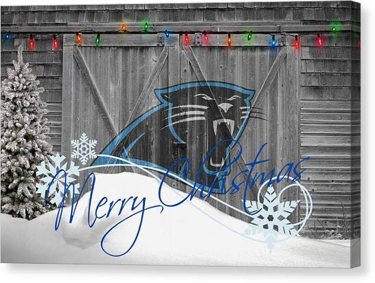 Panthers Canvas Print - Carolina Panthers by Joe Hamilton