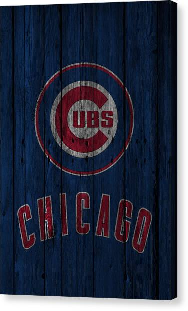Bases Canvas Print - Chicago Cubs by Joe Hamilton