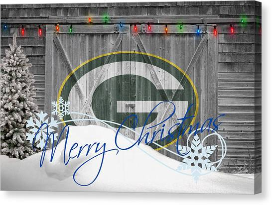 Goal Canvas Print - Green Bay Packers by Joe Hamilton
