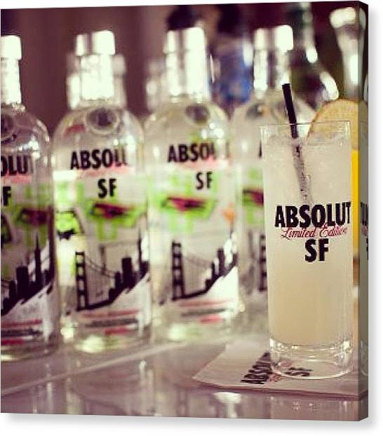 Vodka Canvas Print - #lifeisgood #goodlife #igers by King Primegold