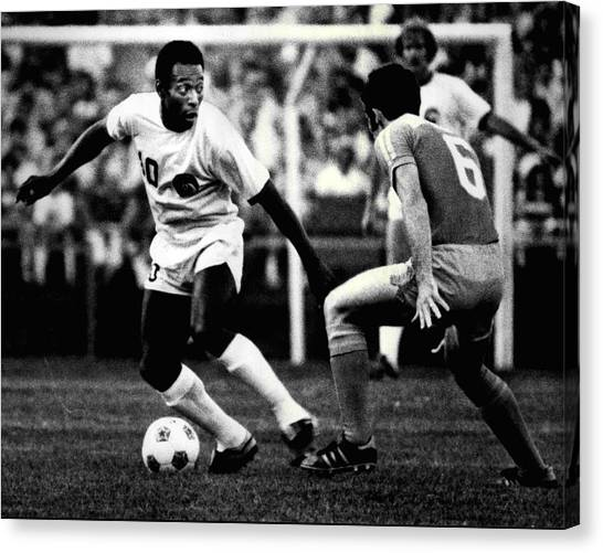 Fifa Canvas Print - Pele by Retro Images Archive