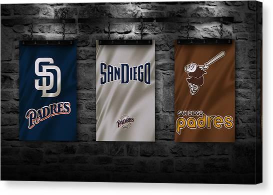 San Diego Padres Canvas Print - San Diego Padres by Joe Hamilton
