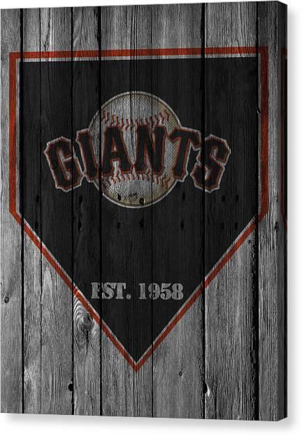 San Francisco Giants Canvas Print - San Francisco Giants by Joe Hamilton