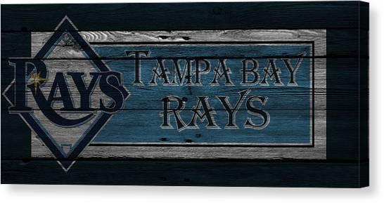 Tampa Bay Rays Canvas Print - Tampa Bay Rays by Joe Hamilton
