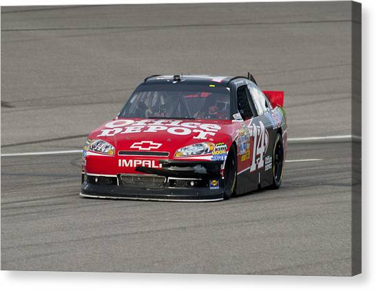 Tony Stewart Canvas Print - 14 Tony Stewart Car by Kevin Cable