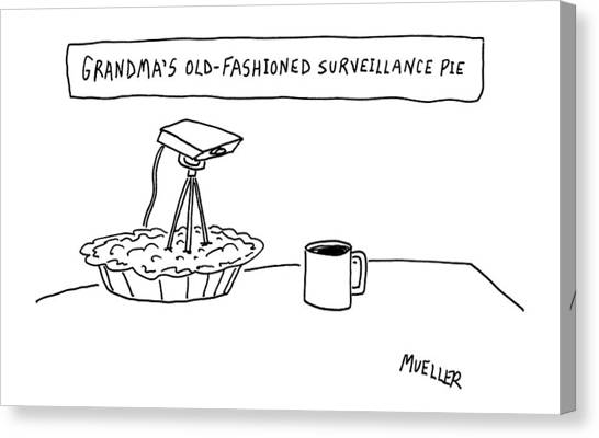 Grandma Canvas Print - New Yorker December 17th, 2007 by Peter Mueller