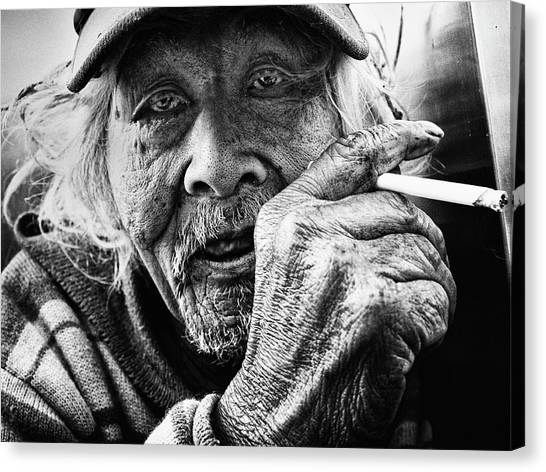 Old Man Canvas Print - Untitled by Tatsuo Suzuki