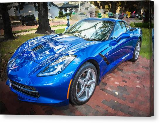 2014 Chevrolet Corvette C7 Canvas Print