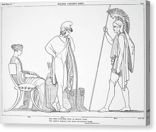 Warrior Goddess Canvas Print - Homer The Iliad by Granger