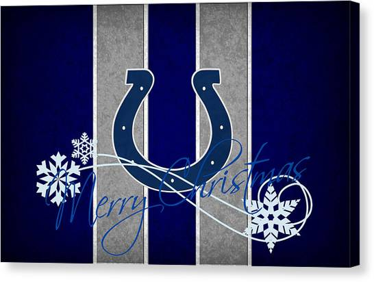 Indianapolis Colts Canvas Print - Indianapolis Colts by Joe Hamilton