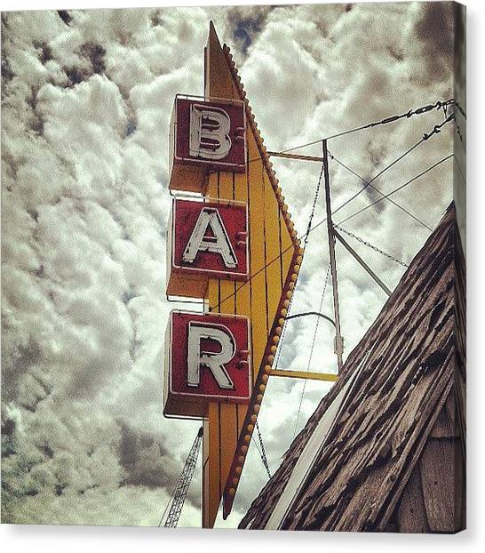 Bar Canvas Print - Instagram Photo by Aaron Kremer