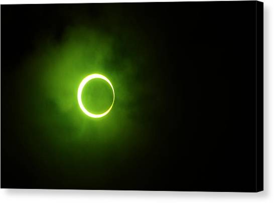 15 January 2010 Solar Eclipse Maldives Canvas Print
