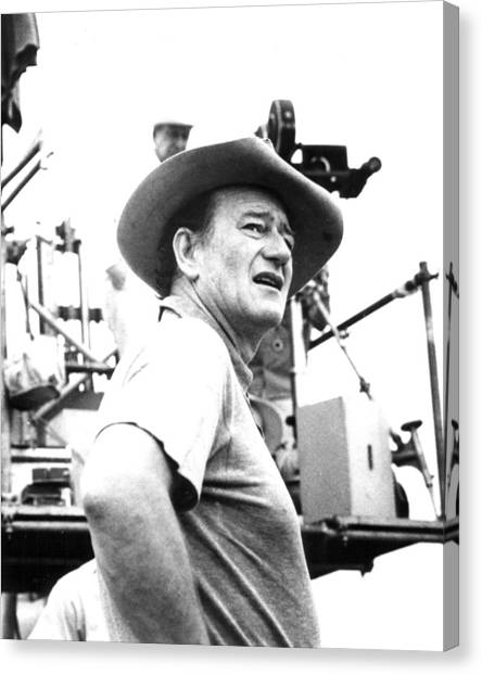 University Of Iowa Canvas Print - John Wayne by Retro Images Archive
