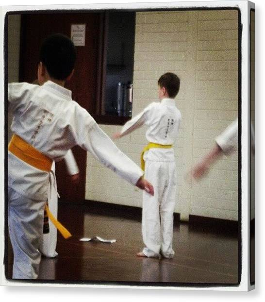 Karate Canvas Print - #mondays #portraits #family #son by Ragenangel -s