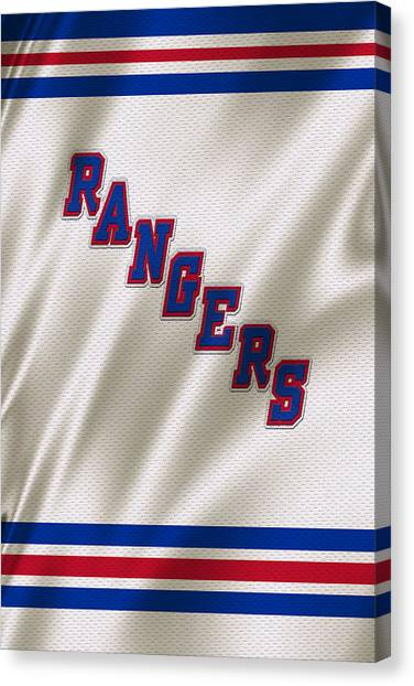 Hockey Players Canvas Print - New York Rangers by Joe Hamilton