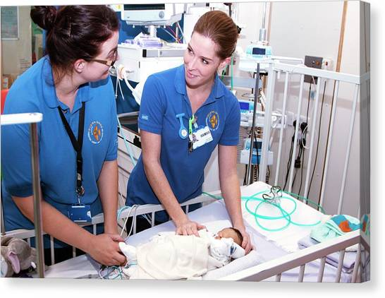 Nursing Canvas Print - Paediatric Cardiology Ward by Life In View