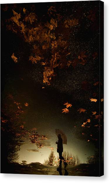 Autumn Leaves Canvas Print - Untitled by Antonio Grambone
