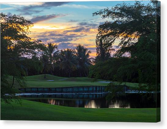 15th Green At Hollybrook Canvas Print