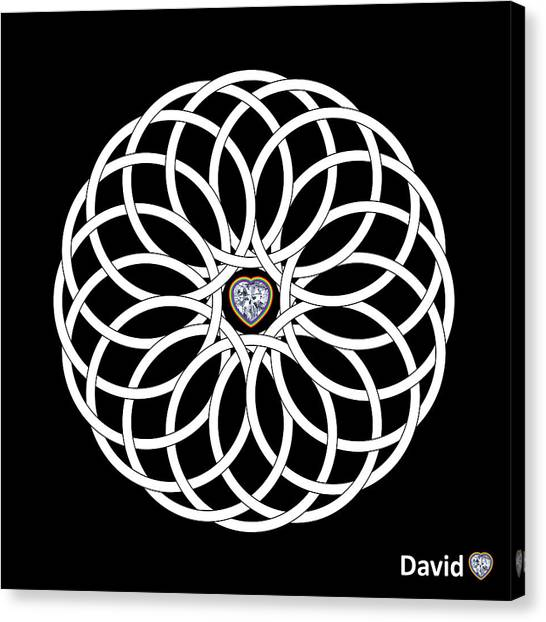 16 Circles Canvas Print by David Diamondheart