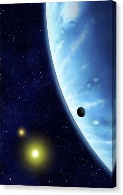 16 Cygni B Planet Canvas Print by Mark Garlick/science Photo Library