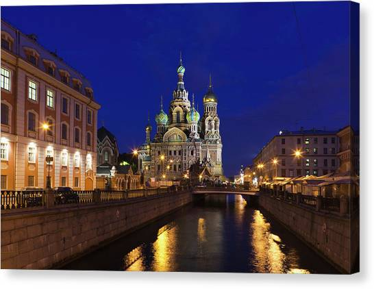 Eastern Europe Canvas Print - Russia, Saint Petersburg, Center by Walter Bibikow