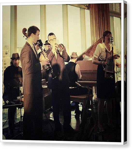 Celebrities Canvas Print - The Hot Sardines by Natasha Marco