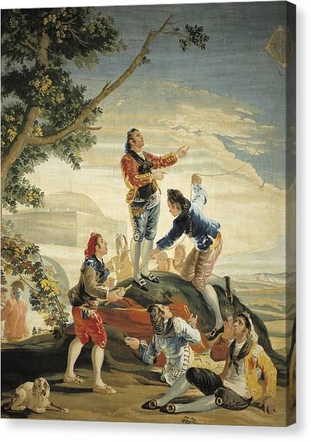 Fabric Of Society Canvas Print - Goya Y Lucientes, Francisco De by Everett