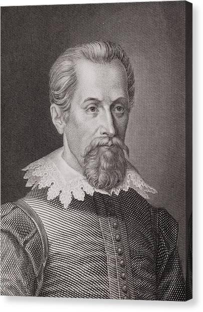 1876 Canvas Print - 1620 Johannes Kepler Astronomer Portrait by Paul D Stewart