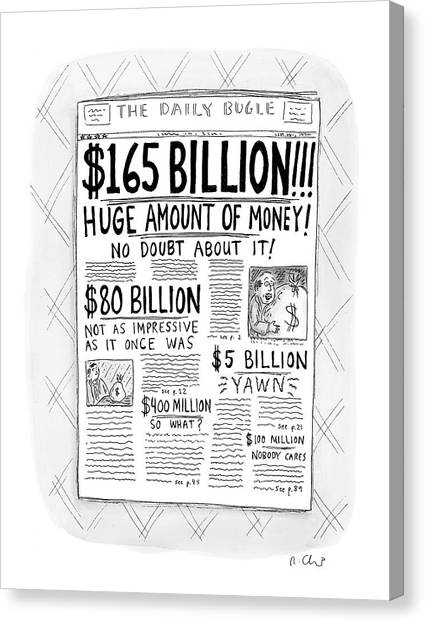 New Yorker April 24th, 2000 Canvas Print