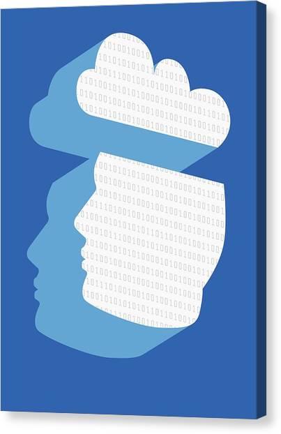 Cloud Computing, Conceptual Artwork Canvas Print by Victor Habbick Visions