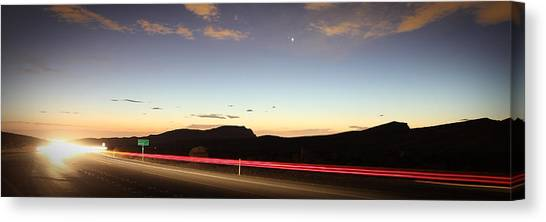 17 Miles To Vegas Canvas Print