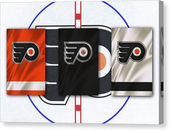 Philadelphia Flyers Canvas Print - Philadelphia Flyers by Joe Hamilton