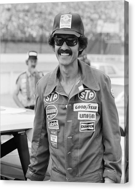 Finish Line Canvas Print - Richard Petty by Retro Images Archive