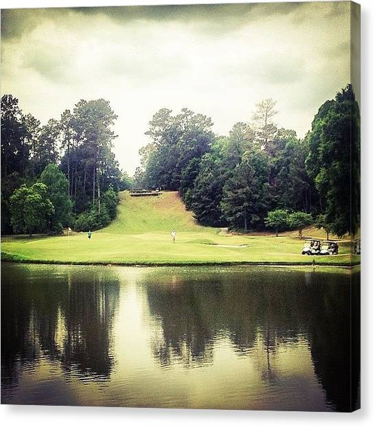 Sports Canvas Print - #17 The Bluffs #golf #iphone5 by Scott Pellegrin