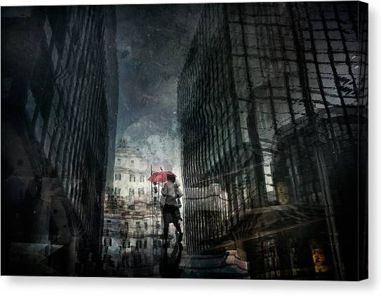 Street Canvas Print - Untitled by Antonio Grambone