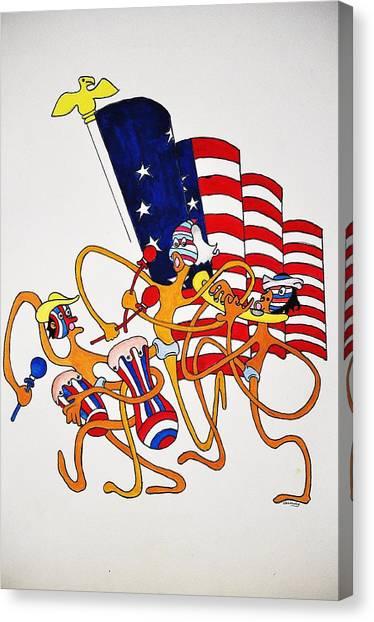 1776 Happy People Canvas Print by Glenn Calloway